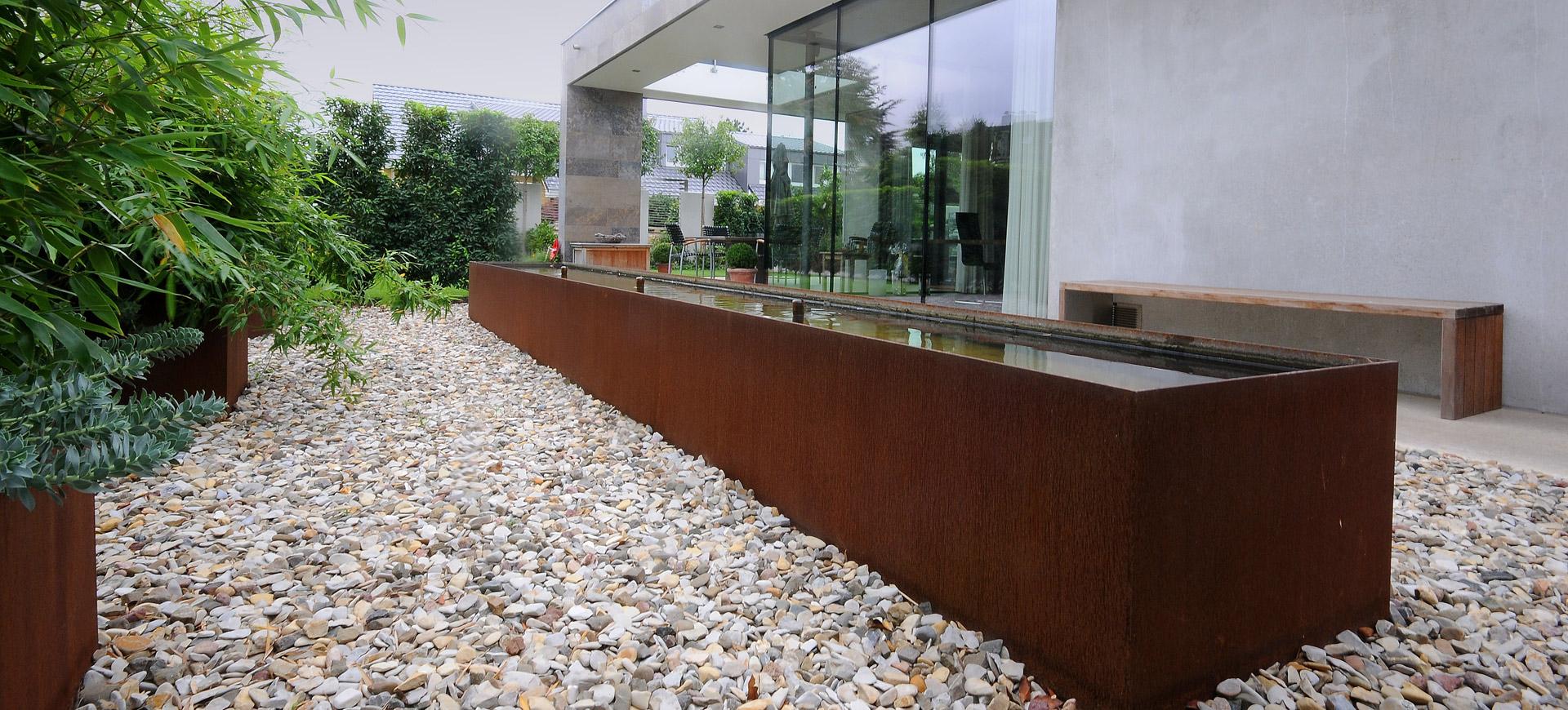 Wasser Arrangements Garten Driller Freiraumgestaltung