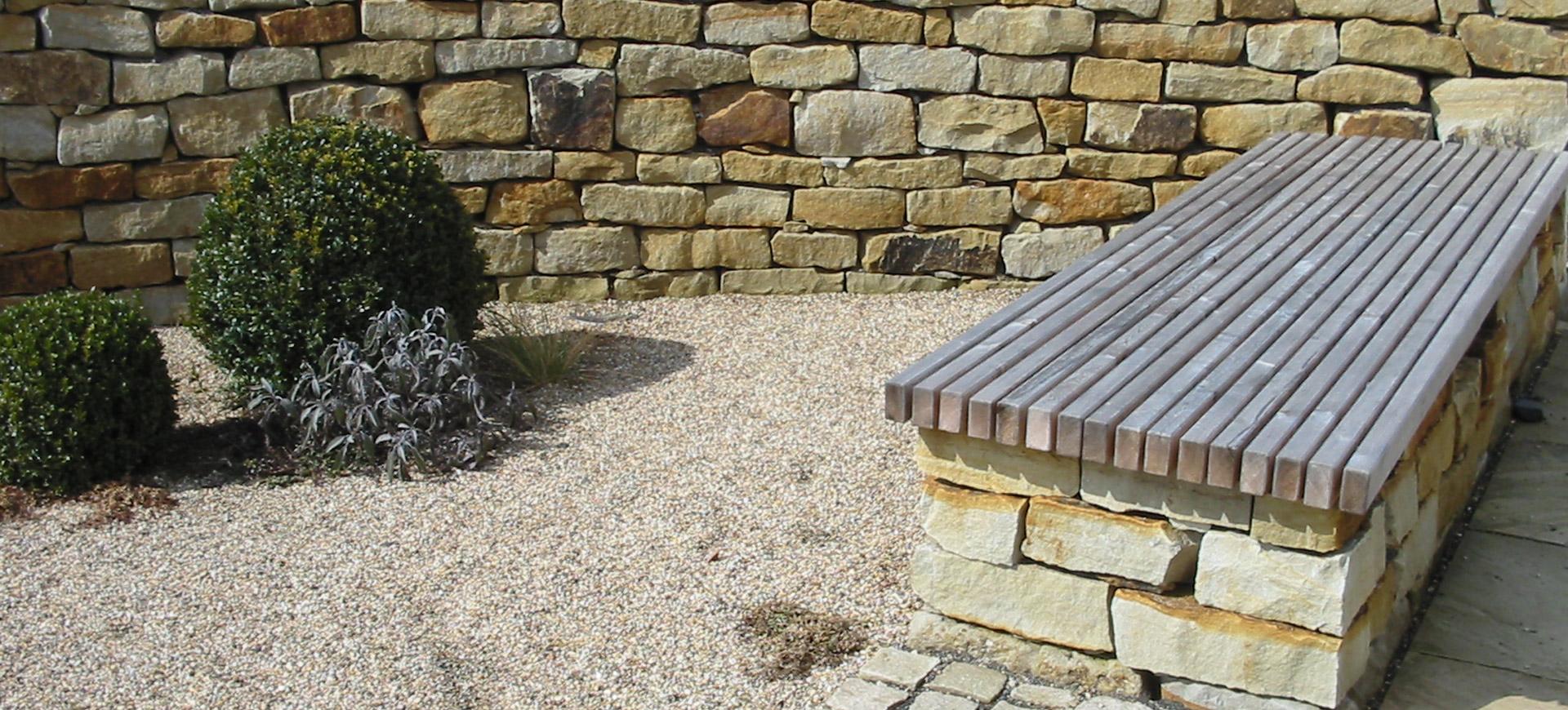 Mauer Zaun Sichtschutz Garten Driller Freiraumgestaltung